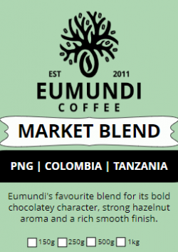 Eumundi Coffee Market Blend Label