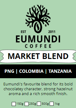 Eumundi Coffee Market Blend Label